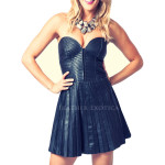 Bold Mini Leather Dress For Women