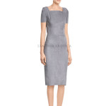 Classic Grey Suede Dress For Women