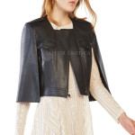 Cape Sleeves Leather Jacket Women