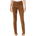 New Style Suede Leather Leggings