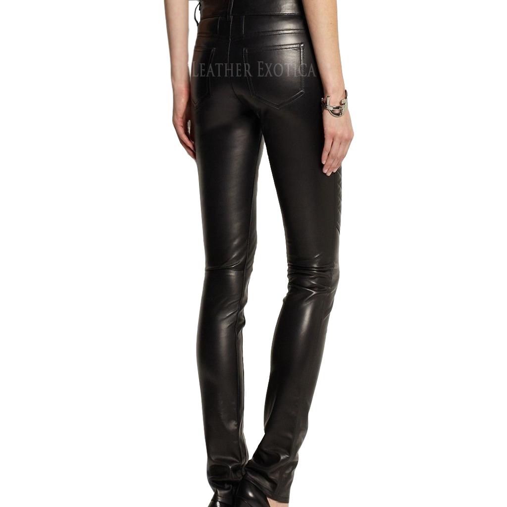 ece05eed94d8ba ... New Skinny Fit Quilted Leather Pants. Sale! LEp008ss · LEp008b