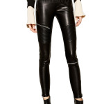 Women Leather Biker Trouser