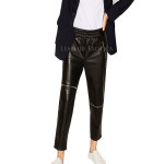 Leather Jogging Pants With Zips
