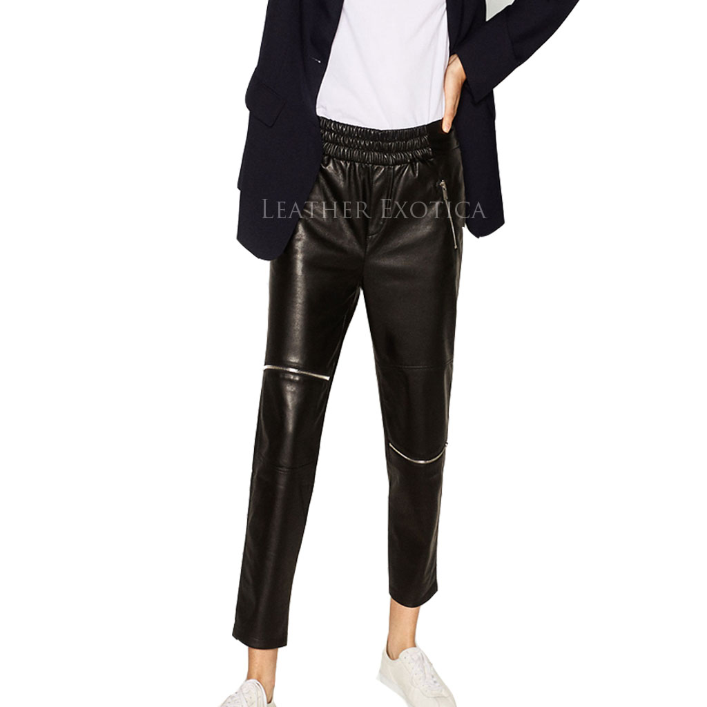 Amazing foot liquid feel leather jogger pants for women will not let you down. Stretchy, shiny faux leather joggers feature a loose fit, and elasticized bands at the ankles and around the smocked waistband, finished with a decorative drawstring/5(5).