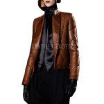 Quilted Style Leather Jacket For Women