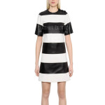 Classic Style Stripes Leather Dress