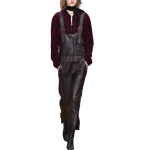 Cool Styled Cozy Leather Jumpsuit For Women