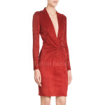 Valentine Special Classic Red Suede Leather Dress
