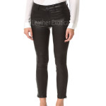 Cropped Leather Pants For Women