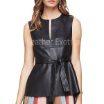 Faux Leather Top For Women