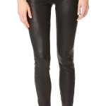 Studded Ankle Length Women Leather Pants