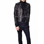 Designer Studded Biker Men Leather Jacket