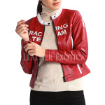 Racing Leather Jacket For Women