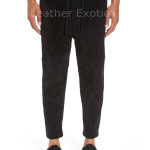 SUEDE LEATHER JOGGER PANTS