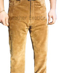 Men Suede Leather Pant