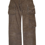 SUEDE LEATHER MEN CARGO