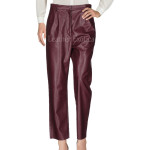 High Waist Casual Leather Pants