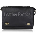 Men Briefcase Shoulder Messenger Leather Bag