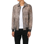 Distressed Suede Leather Men Jacket