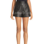 Cool Classic Style Leather Shorts