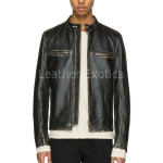 Classic Distressed Biker Leather Jackets