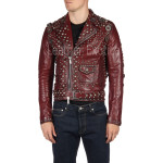 Designer Studded  Motorcycle Leather Jacket