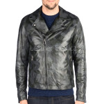 Camouflage Style Motorcycle Leather Jacket