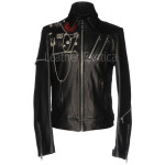 Military Style Leather Jacket For Men