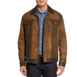 Distressed Premium Men Suede Leather Jacket
