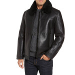 Faux Fur Men Leather Paneled Jacket