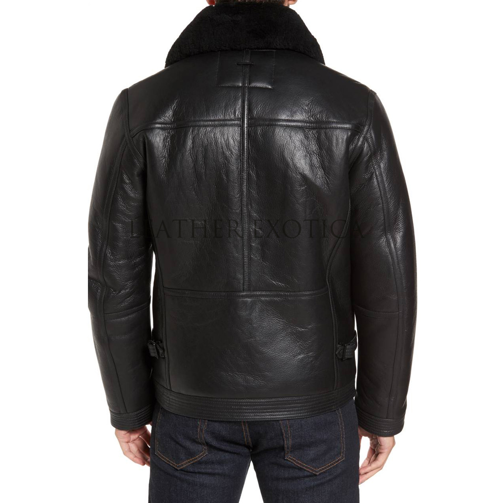 a7a6d007f3c Faux Fur Men Leather Paneled Jacket