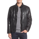 Trendy Men Leather Biker Jacket