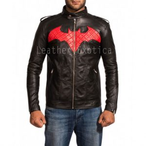 Batman Red and Black Leather Jacket-001-700x700