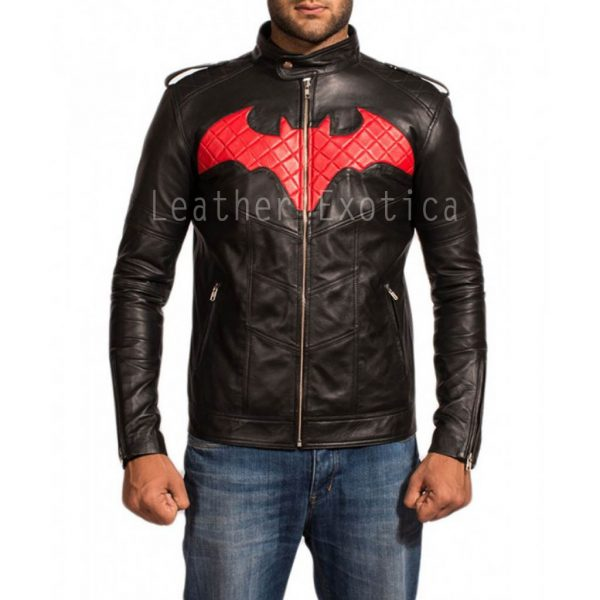 Batman Red and Black Leather Jacket-001-700×700