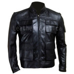 Han Solo  Smuggler Leather Jacket For Men