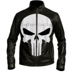 PUNISHER BIKER LEATHER JACKET