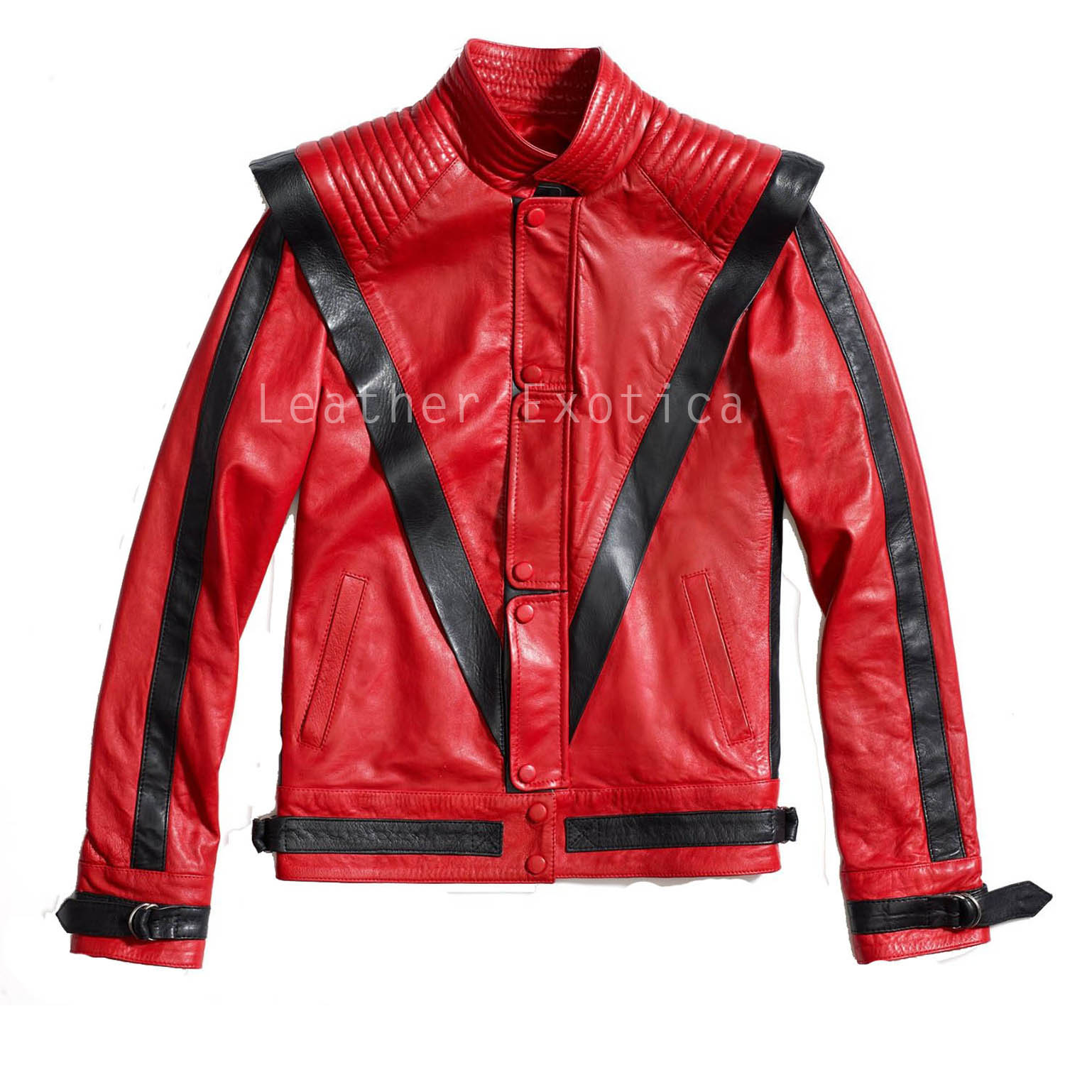 best service fine quality reputation first Michael Jackson Thriller Style Red Leather Jacket