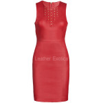 Body-Con Red Leather Dress