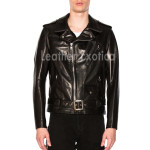 Men Motto Leather Jacket