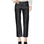 Distress Women Leather Pants