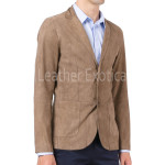 Suede Leather Men Blazer