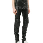 Panled Men Leather Pants