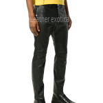Ankle Length Men leather Pants