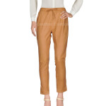 ELASTIC WAIST BAND WOMEN LEATHER PANTS
