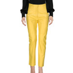 Yellow Leather Pant For Women