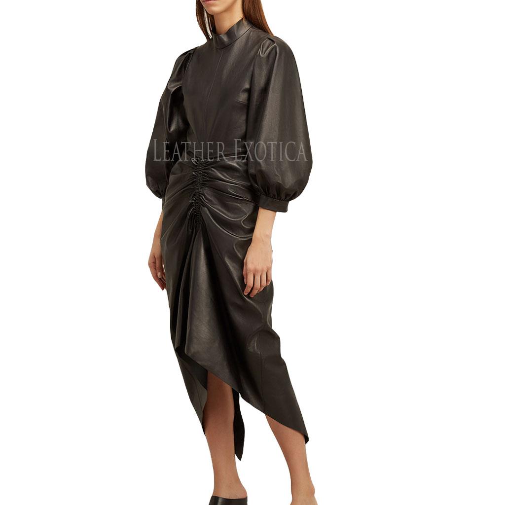 Leather Evening Dress