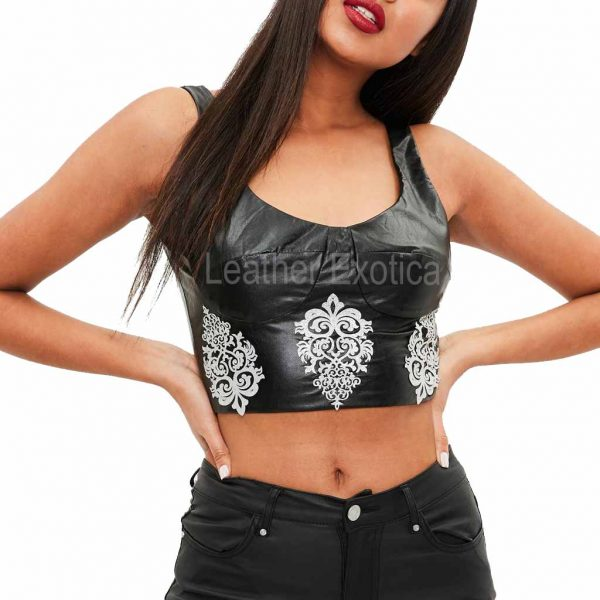 black-faux-leather-embellished-top