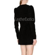 Studs Style Women Suede Leather Dress