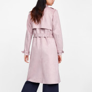 Winter Special Suede Leather Trench Coat back