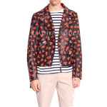 Hearts Print Men Leather Jacket For Valentines